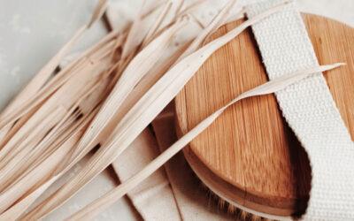 Szczotka z naturalnym włosiem | Szczotkowanie na sucho